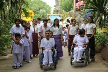 โรงเรียนศรีสังวาลย์ขอนแก่นนำนักเรียนเข้าร่วมกิจกรรมวันสำคัญทางพระพุทธศาสนา ณ วัดป่าธรรมอุทยาน จ.ขอนแก่น